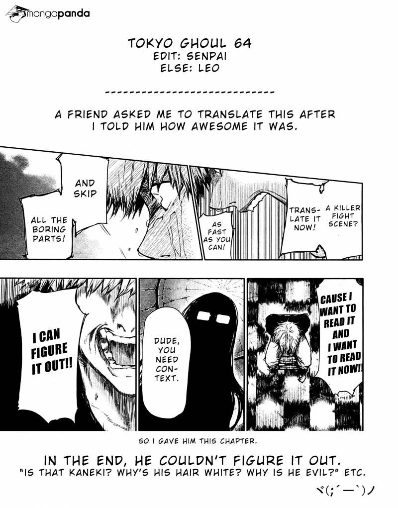 Tokyo Ghoul Chapter 64  Online Free Manga Read Image 21