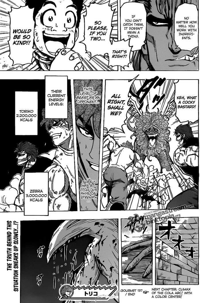 Toriko Chapter 137  Online Free Manga Read Image 16