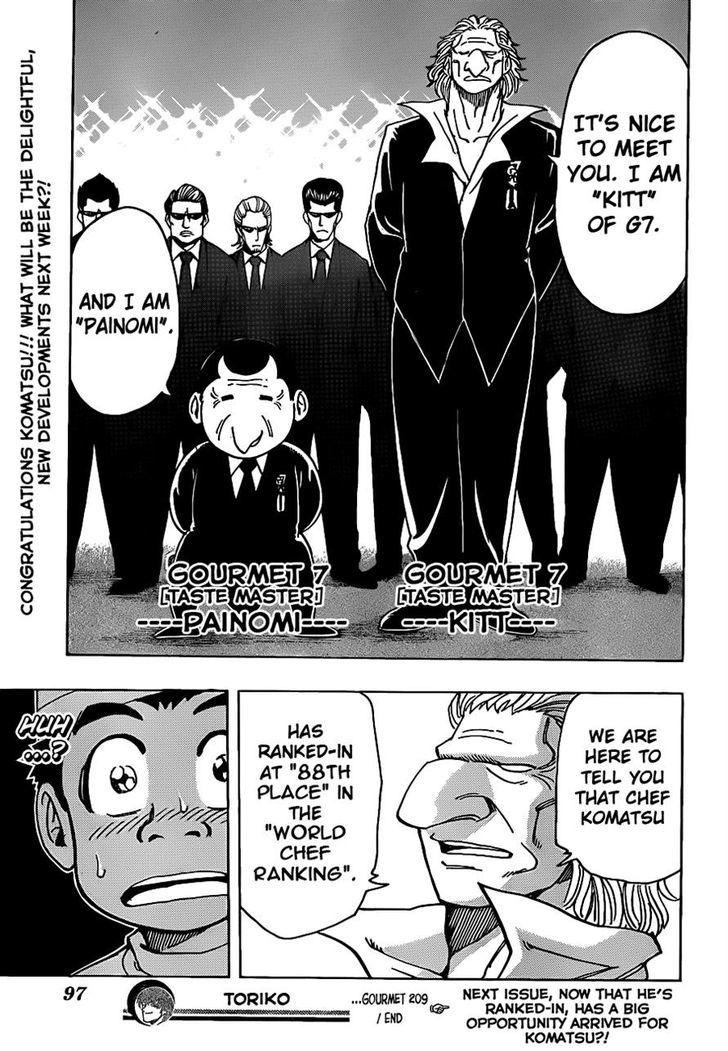 Toriko Chapter 209  Online Free Manga Read Image 18