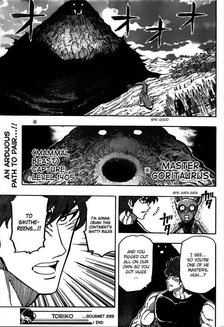 Toriko Chapter 299  Online Free Manga Read Image 18