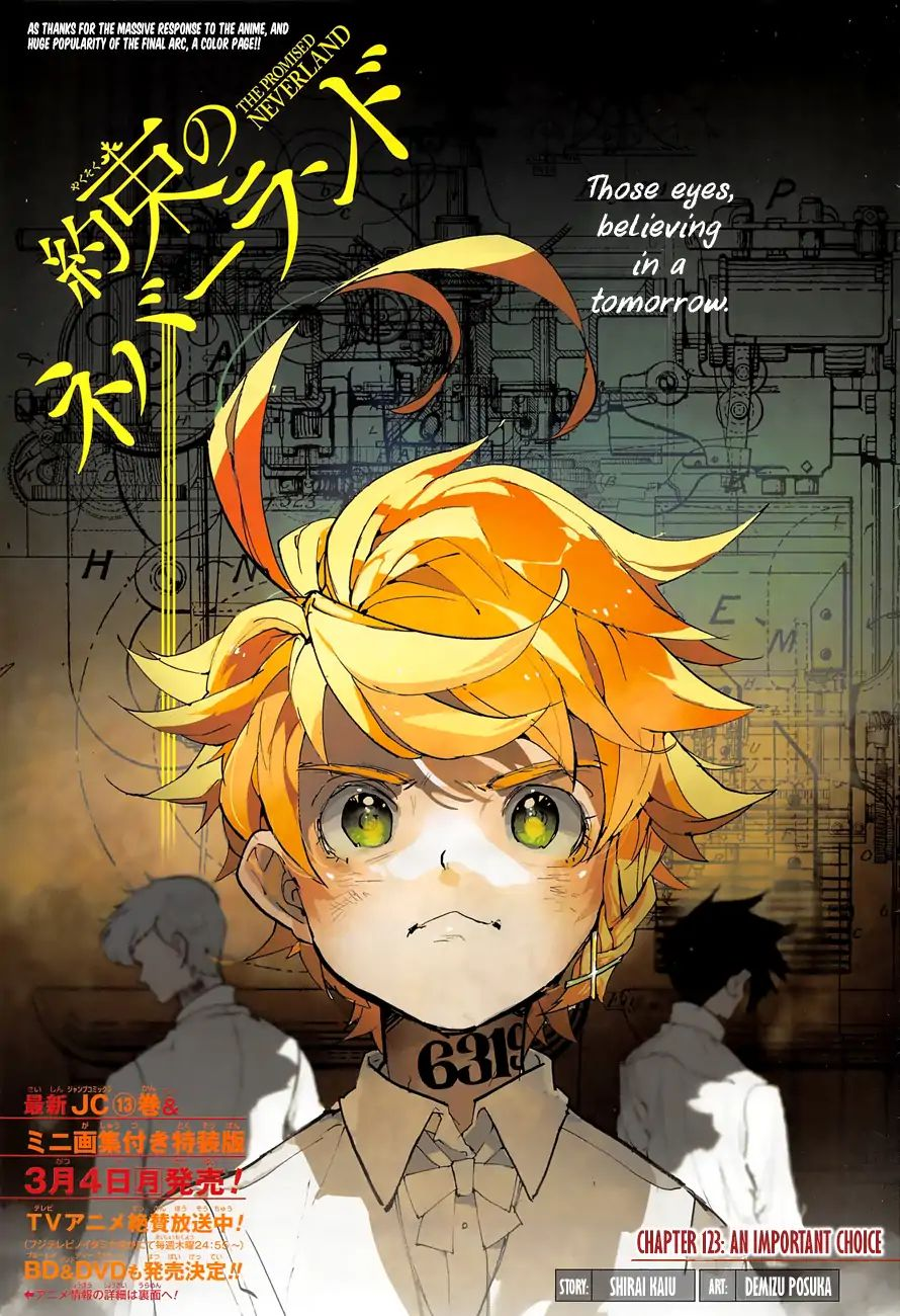 Yakusoku No Neverland Chapter 123  Online Free Manga Read Image 1