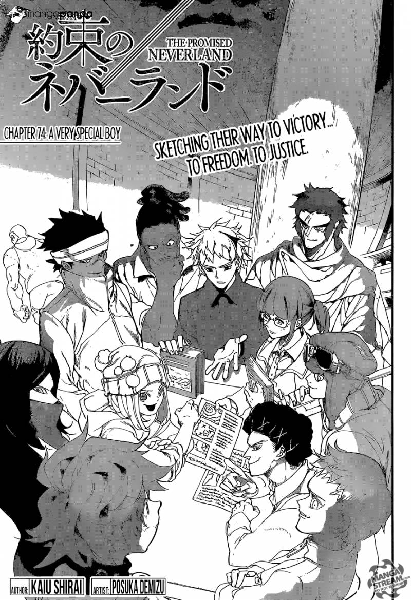 Yakusoku No Neverland Chapter 74  Online Free Manga Read Image 3